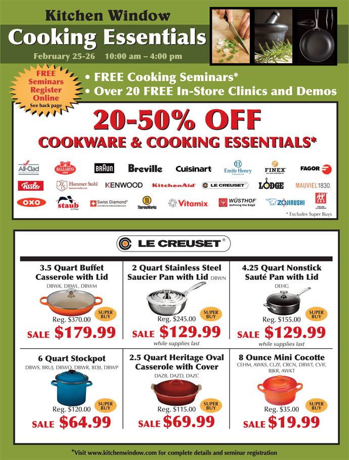 Cooking Essentials Sale