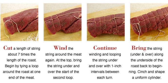 How-to tie a roast