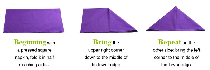 Folding the Napkins