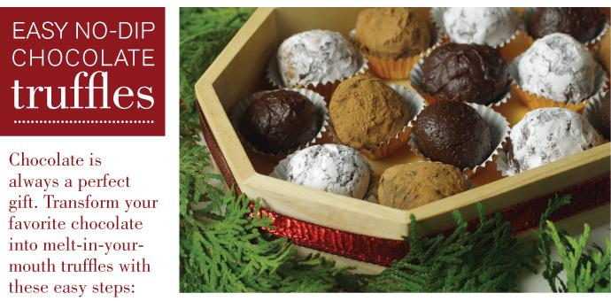 Serrated Edge Chocolate Truffles
