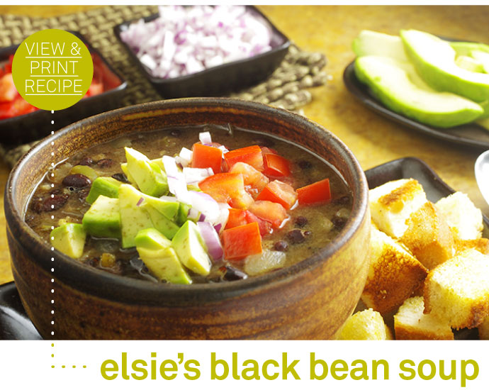 RECIPE: Elsie's Black Bean Soup