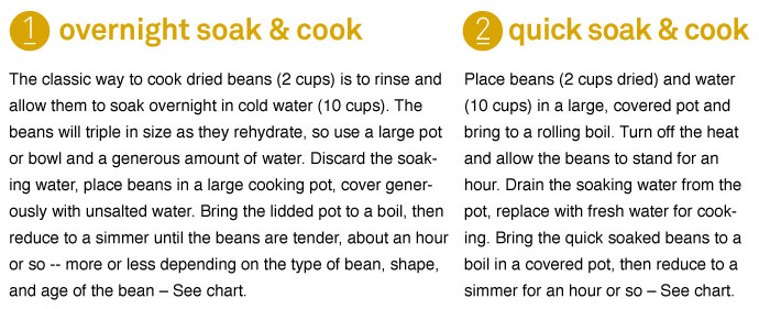 Soak and Cook