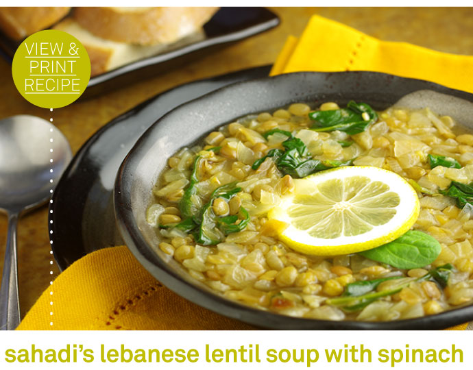 RECIPE: Sahadi's Lebanese Lentil Soup with Spinach
