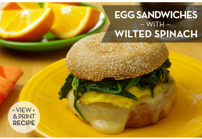 RECIPE: Egg Sandwiches with Wilted Spinach