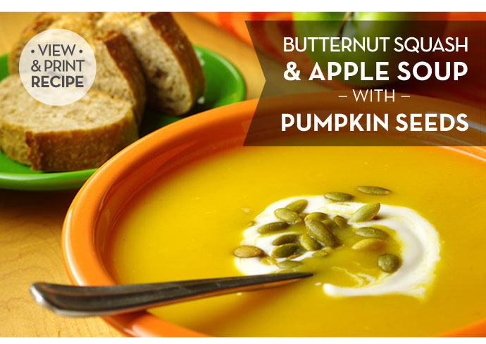 RECIPE: Butternut Squash and Apple Soup with Pumpkin Seeds