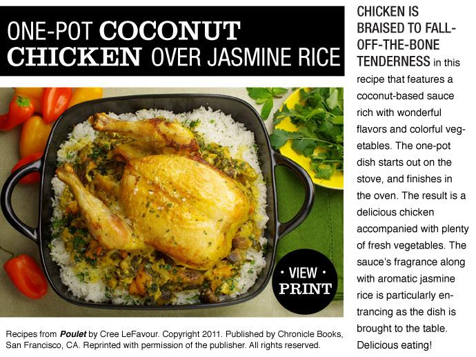 RECIPE: One-Pot Coconut Chicken over Jasmine Rice