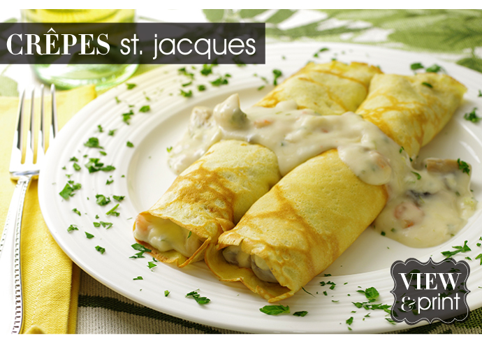 RECIPE: Crepes St. Jacques