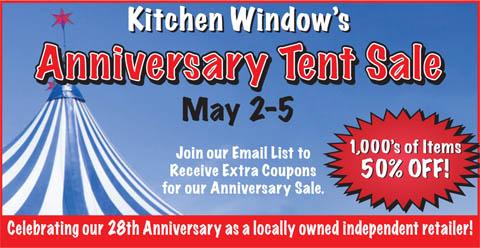 Anniversary Tent Sale