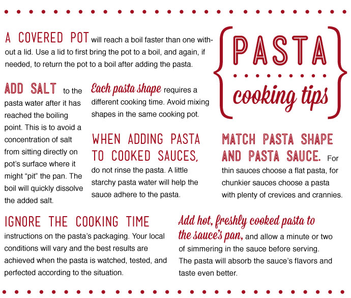 Pasta Cooking Tips