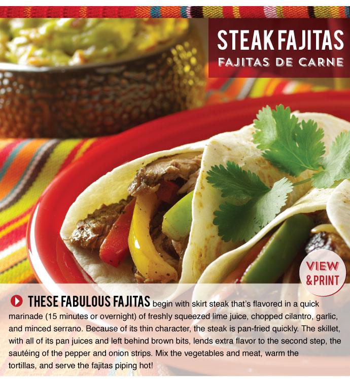 RECIPE: Steak Fajitas