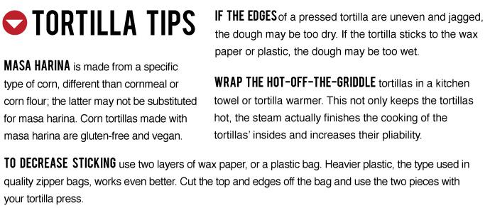 Tortilla Tips