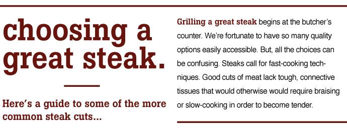 Choosing a Steak