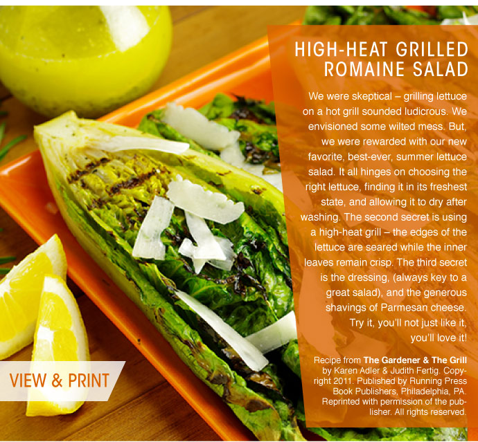 RECIPE: High-Heat Grilled Romaine Salad