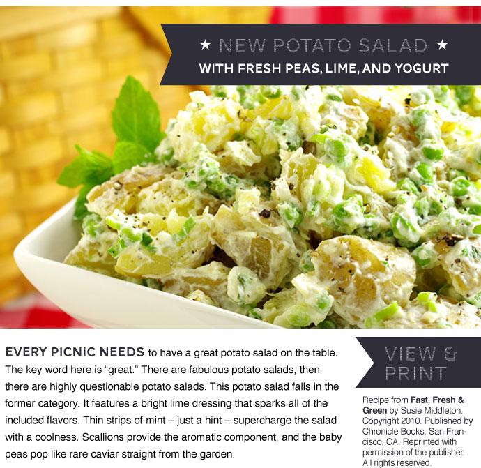 RECIPE: New Potato Salad with Fresh Peas, Lime and Yogurt