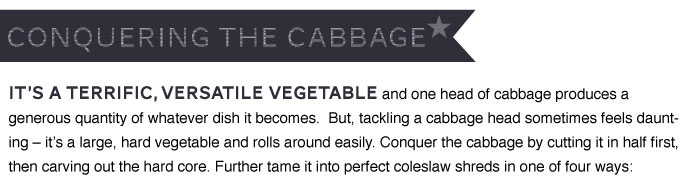 Conquering the Cabbage
