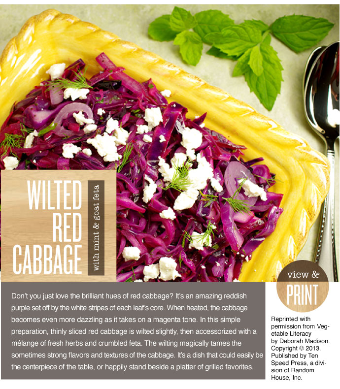 RECIPE: Wilted Red Cabbage