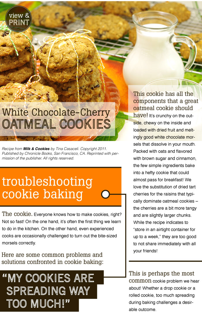 RECIPE: White Chocolate-Cherry Oatmeal Cookies